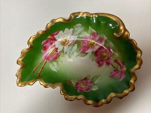 Antique Small Limoges Coronet Serving Plate/Bowl Signed BM de M France