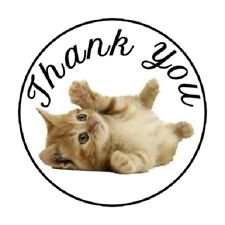 "48 Thank You Kitten !!!  ENVELOPE SEALS LABELS STICKERS 1.2"" ROUND"