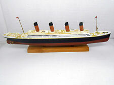 RMS TITANIC EN METAL FABRICADO POR ATLAS SHIP BARCO TRANSATLANTICO BRITANNIC