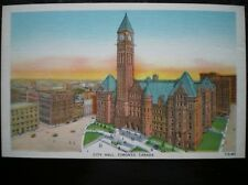 LINEN POSTCARD  CANADA TORONTO CITY HALL