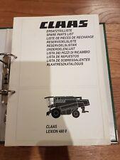 Claas Lexion 480 11 Combine Spare Parts List