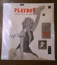 December-1953-Playboy-#1-MARILYN MONROE-Personal Gift-Signed HH-NonProfit Org