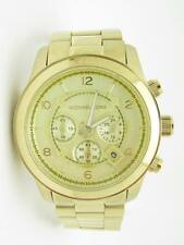 Michael Kors MK-8087 Oversized Gold Tone Chronograph Dia Link Band Watch Gift