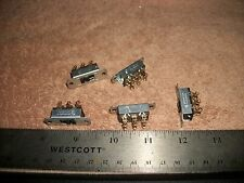 LOT OF 2PDT  8A@125V SLIDE-SELLECTOR SWITCHES-RADIOS-STEREOS! S