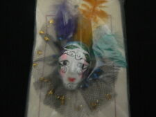 126#C- Ceramic Craft Mar-di Gras Face Adornment Hat Hair