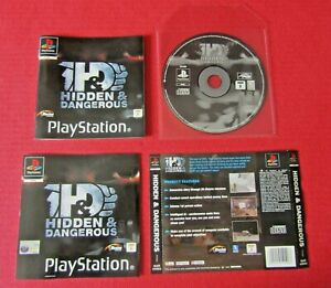 Hidden & Dangerous PS1 Game Disc Manual Inserts Only NO CASE Pal UK