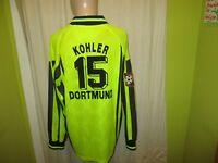 Borussia Dortmund Nike Langarm Matchworn Trikot + Nr.15 Kohler + Signiert Gr.XL