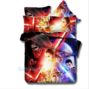 Star Wars Quilt/Doona/Duvet Cover Set Single/Double/Queen/King Size Bed