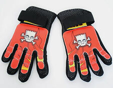 The Simpsons Full Finger Kids Cycling Gloves Small/medium Red and Black Small