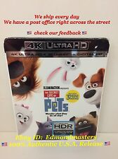 The Secret Life of Pets 4K Blu-ray + Digital HD, Brand New Sealed Ships out Fast