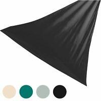 Sun Shade Sail Garden Patio Canopy Awning 98% UV Block Black Triangle