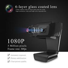 1080P Webcam Auto Focusing Web Camera Cam W/ Microphone For PC Laptop Desktop