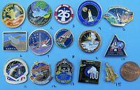 NASA enamel PIN lot of 15 - vtg Space Camp Shuttle station Atlantis Group A