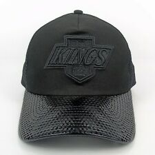 New Era Cap Men's NBA LA Kings Team Black Out Trucker Adjustable Snapback Hat