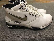 quality design 48f87 ada20 Nike Shox Zoom Mens 11 White vtg 2005 Hightop Basketball Shoes