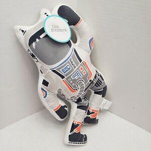 New Tiny Dreamers Astronaut Plush Toy Decor Shaped Pillow Grey
