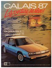 1987 OLDSMOBILE Calais GL Vintage Original Print AD Beach car photo sunlight ca