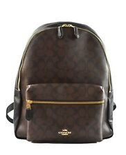 Authentic NWT CHARLIE Large BACKPACK IN SIGNATURE COACH F58314