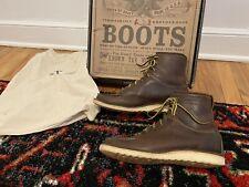 Ralph Lauren RRL Vintage Brown Leather Canyon Hiking Boots 9D 9 D Brunel Polo