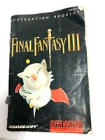 Final Fantasy III Super Nintendo Instruction Booklet Manual Only SNES Original 3
