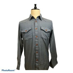 Recent! Pendleton Mens 100% Wool Western Style Shirt Size Medium Hardly Worn!