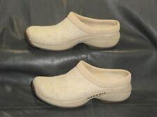Merrell Primo Hemp Natural womens tan fabric slip on slide mule shoes size US 6