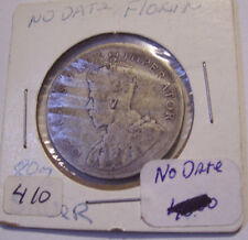 NO DATE FLORIN ENGLISH BRITISH  SILVER 2 SHILLING COIN