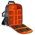 Neewer Flexible Insert Partition Protective Camera Backpack (Orange Interior)