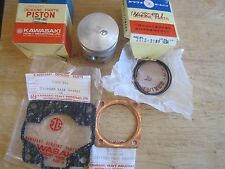 KAWASAKI NOS PISTON & RINGS +.50mm O/S +GASKETS J1 J1T J1TR  13029-037 13025-001