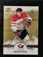 Brayden Point - 2016 Upper Deck Team Canada Juniors Gold Parallel