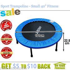 """Sport Trampoline - Small 40"""" Fitness Trampoline with Safety Padding Cover AU"""