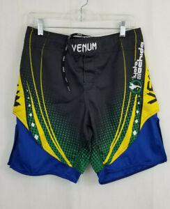 VENUM Shorts XS US/UK 30 Combat MMA Fight Black Yellow Blue Lyoto Machida