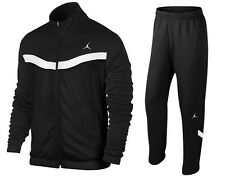 NIKE AIR JORDAN WARM UP SUIT JACKET + PANTS BLACK WHITE RARE NWT (SIZE X-SMALL)