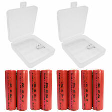 8 pcs 18650 4200mAh Li-ion Rechargeable Battery Protected with 2 x Case US Stock