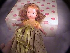 doll Autumn nancy ann storybook with red dot apron bisque fixed leg