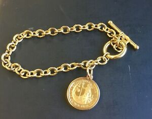 """1/10th Ounce Britannia Fine Gold Coin Bracelet"" Heavy 8.8g"
