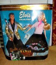 Barbie Loves Elvis Barbie & Ken Gift Set- Live On Stage doll microphone guitar