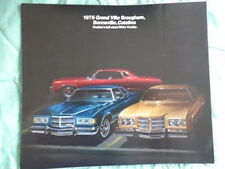 Pontiac GRAND VILLE Brougham, Bonneville BROCHURE 1975 Stati Uniti del mercato di grande formato