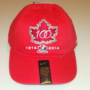 Team Canada 2015 World Juniors Hockey 100th Anniversary  Hat Cap Youth Kids OSFM