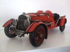 PLATO De Estaño Modelo de un viejo estilo coche de carreras/Pintado A Mano/Rojo/Adorno/regalo