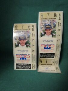 1993 Indianapolis 500 Ticket Stub And Full Ticket-AL Unser JR.