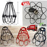 Vintage Industrial Pendant Wire Cage Hanging Loft Guard Lamp Edison Without Bulb