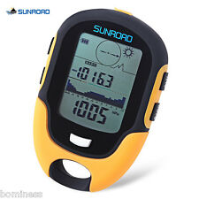 SUNROAD Outdoor Multifunction Waterproof LCD Digital Compass Barometer Altimeter
