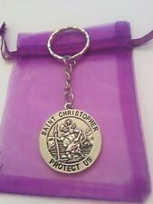 St Christopher Keyring, Safe journey, protection keepsake talisman driving test