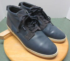 Mens sz 12 blue leather Hagelin Wesc high top basketball athletic sports shoes