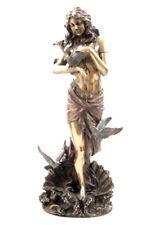 "Greek Aphrodite Goddess Of Love Beauty  Pleasure 11"" Cold Cast Bronze Statue"