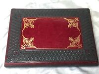 Vintage French Napoleonic Style Oxblood Red Leather Ladies Writing Letter Case