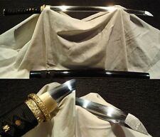 Clay Tempered T10 Folded Steel Japan Samurai Tang Sword Katana Wakizashi Sharp