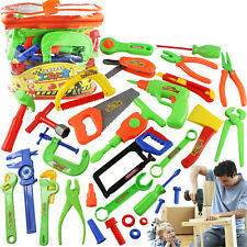 32 Pcs Plastic Simulation Repair Tool Kit For Boys Kid Children Toy Set Funny OZ