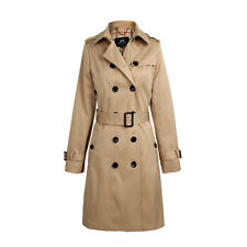 2017 Women's Double Breasted Trench Coat Business Slimmed Waterproof Raincoat